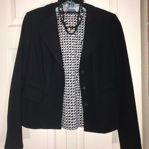 Ann Taylor Textured Peplum Jacket